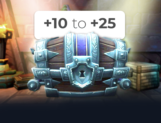 mythic +10 to +25 carry