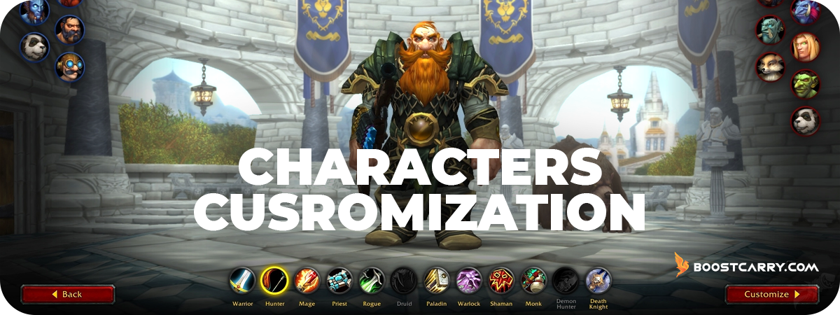 Shadowlands Characters Customization