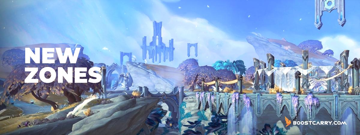 Shadowlands New Zones