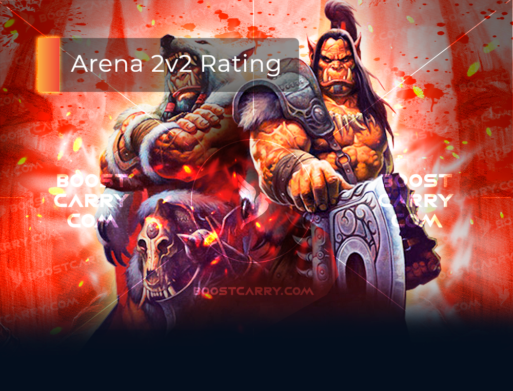 wow arena 2v2 rating boost